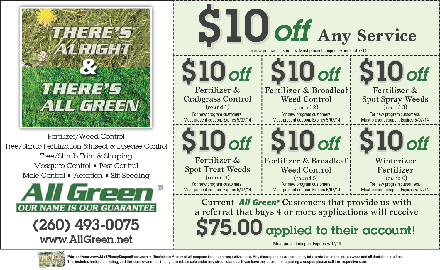 Settlers' green coupon book