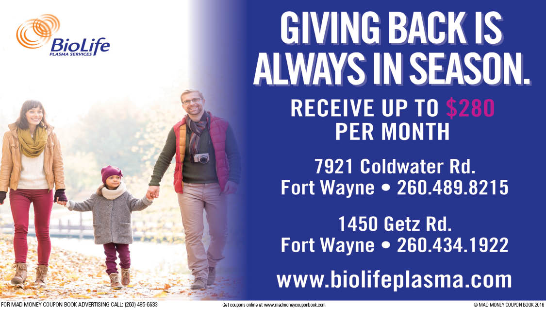 Biolife Fort Wayne Coupon 2018 Free Coupons By Mail For Cigarettes