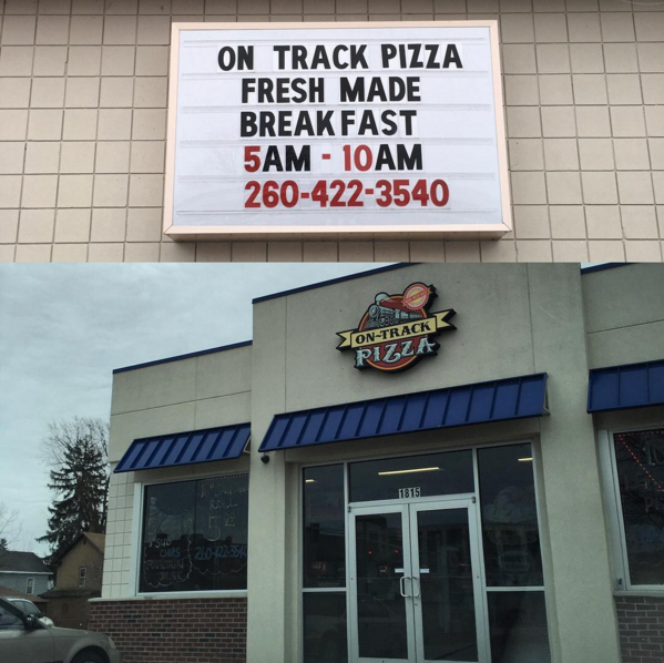 Your taste buds will thank you for On~Track Pizza!