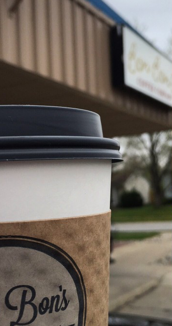 Get your caffeine fix at Bon Bon's Coffee Company.